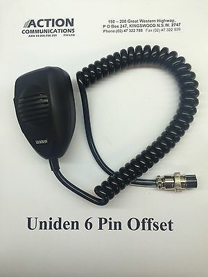 uniden 6 pin offset microphone to suit UH013 UH015 UH089 and UH090