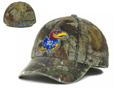 promo code c1f7c c7b10 NWT NCAA Kansas Jayhawks 47 Brand Real Tree Franchise Fitted Hat Cap Medium  GD