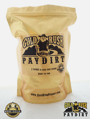 OFFICIAL GOLD RUSH PAYDIRT, TWO (2+) POUNDS, Screened, REAL GOLD GUARANTEE