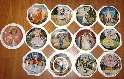13 Plates - Shirley Temple Plate Collection By Danbury Mint 1990 Complete Set