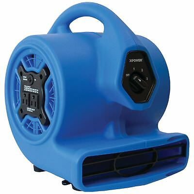 XPOWER P-100A 3-Speed Mini Air Mover/Floor Dryer/Utility Blower Fan w/ Built-In