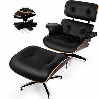 lounge chair eames inspired ottoman genuine rosewood 100 italian