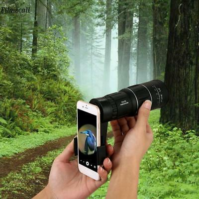 16x52 Zoom Hiking Concert Camera Lens Monocular Telescope w/Mobile Phone Clip fr