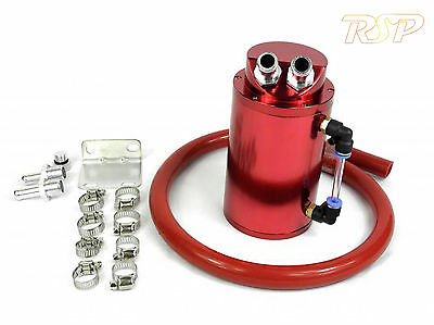 Red Alloy Oil Catch Tank Can Red 19mm Hose VW Audi Seat Skoda 1.8 20v Turbo