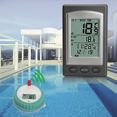 Wireless LCD Schwimmbad Thermometer Poolthermometer Funk Teichthermometer
