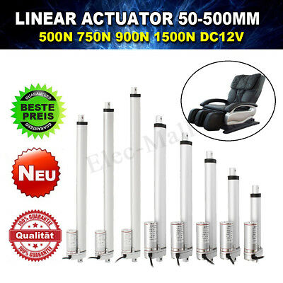 "500-1500N 2-18"" DC 12V Linear Actuator Motor For Auto RV Electric Door Opener"