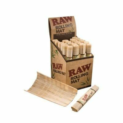 Raw Rolling Matt Bamboo Wood Tray Natural Authentic Smoking Cigarette 12x 8.5 cm