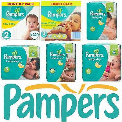 Pampers Nappies Baby Dry Magical Pods Size 3,4,4+,5 *Super Saving Pack* 100+ Pk
