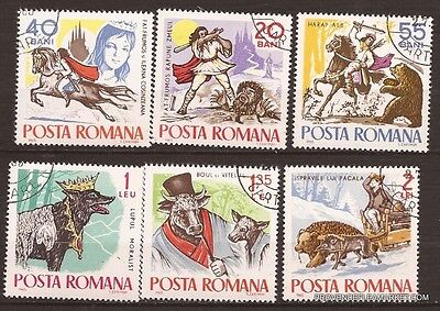 22 ROMANIA serie 6 stamps canceled Tales and Legends