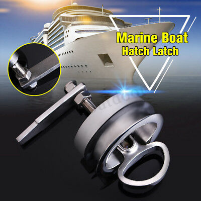 316 Stainless Steel Marine Boat Hatch Flush Pull Latch Lift Handle NON Locking