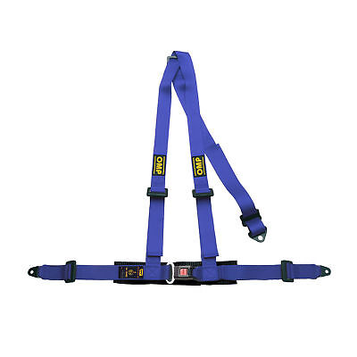 CLEARANCE! OMP 3 Point Harness ECE Approved BLUE