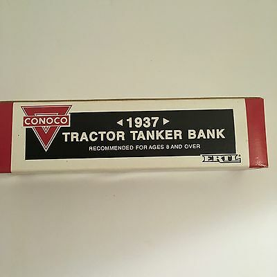 NEW ERTL Conoco Nth Motor Oil 1937 Tractor Tanker Coin Bank #9500UA