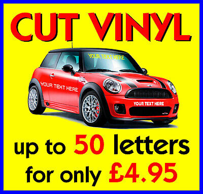 Self Adhesive Vinyl Lettering - Car Graphics - Boat Graphics - Wall Graphics -