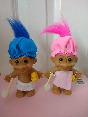 Russ Troll Dolls Bathtime Shower Boy Collectable 2 Rare Immaculate New