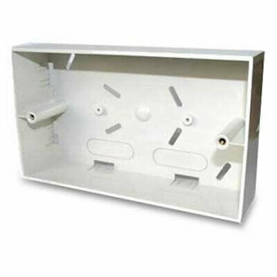 Scan double Gang White Plastic Flush Back Box Unit For RJ45 Face Plates UT-732 F
