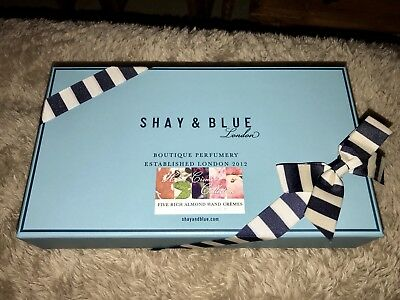 Brand New Boxed Shay & Blue Rich Almond (5 X 40ml) Hand Cream Set RRP £50