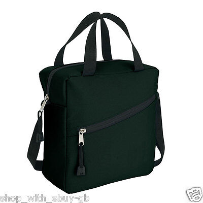 Black Insulated Lunch Time Cool Cooler Bag with shoulder strap  - Brand New