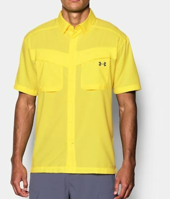 Under Armour Tide Chaser Short Sleeve Fishing Shirt 1290743-756 Sol Yellow