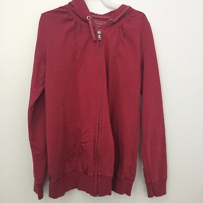 Motherhood Maternity Women's Red Hoodie Sweatshirt Full Zip Size Small