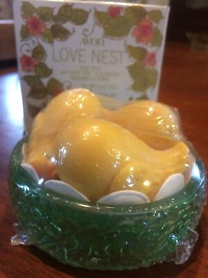 Vintage Avon The Love Nest Special Occassion Fragranced Soaps 3 Yellow Birds NIB