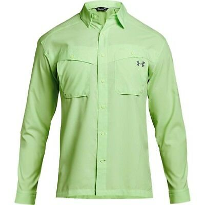 Under Armour Tide Chaser Long Sleeve Fishing Shirt 1290744-712 Lime