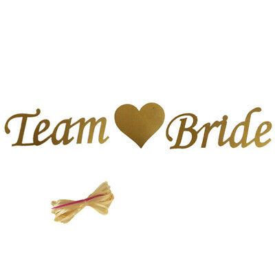 Gold Glitter Team Bride Card Banner Bunting Garland Hen Night Party Do Accessory