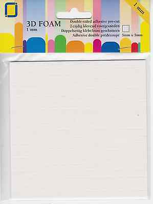 800 3D Double Sided Adhesive Foam Pads For Decoupage, Card Making & Scrapbooks