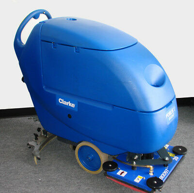 Clarke Focus Ii Boost L20, Compact Walk Behind Scrubber, 24V, Used, Very Clean
