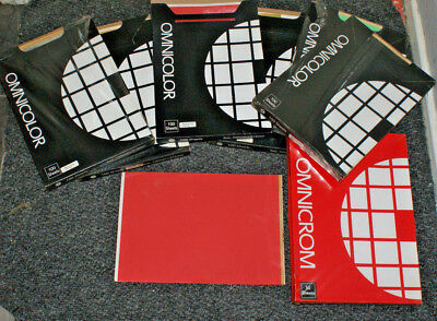 Rare OMNICOLOR printing sheets for hot foil machines and laminator omnicrom