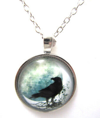 Pagan Necklace Crow Jewelry Bird Pendant Xmas Gift for Holiday Popular Unique