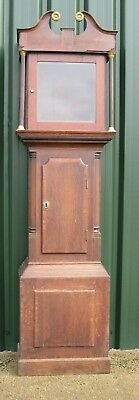 A Good old Oak Cottage Grandfather Clock Case - Only 6 feet Tall.