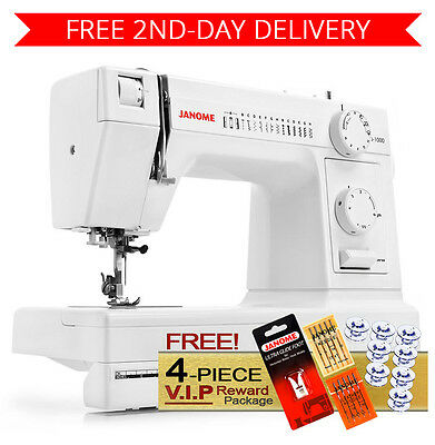 Janome HD1000 Heavy Duty Sewing Machine w/ 4-Piece Package + 2nd-Day Shipping