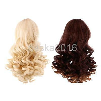 2pcs Deep Curls Wig Wavy Curly Hair for 18'' American Girl Doll Making #4+#5