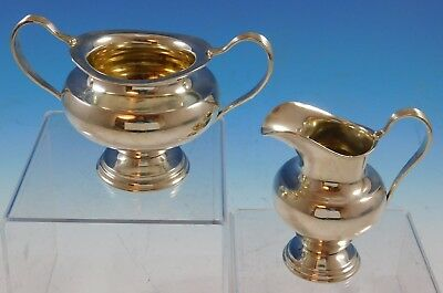 Silver Plumes by Towle Sterling Silver Sugar and Creamer Set 2pc #7224 (#2238)