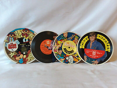 Lot of 4 vintage cereal box records, The Sugar Bears, The Archies, Bobby Sherman