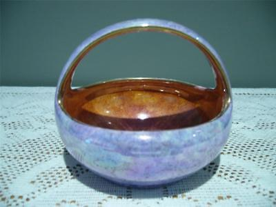 Grimwades England Art Deco Byzanta Ware Basket Shaped Bowl -  Hampton - Vgc