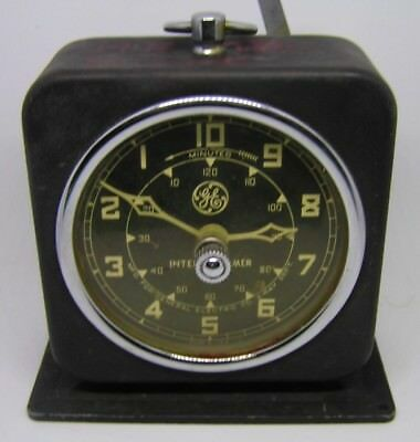 Vintage ~ 1950's Era Ge General Electric X-Ray Corp. Interval Dark Room Timer