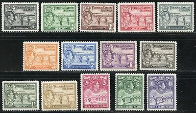 Turks & Caicos Scott #78/89  Mint Never Hinged Original Gum--Scott Value $135.00