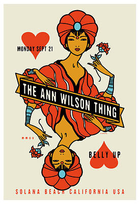 Scrojo The Ann Wilson Thing Belly Up Poster Wilson_1509 Heart