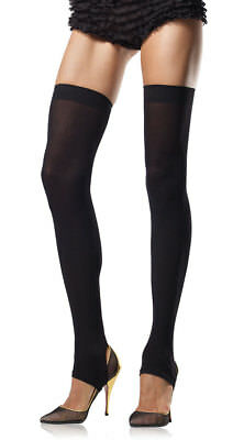 One Size Fits Most Womens Opaque Stirrup Thigh High Stocking