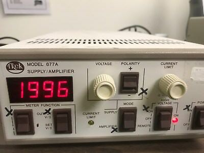 Trek Model 677A Power Supply Amplifier +/- 2000 V 5 mA HV cable Input Cable