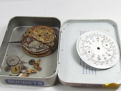 Antique UNSIGNED Minute Repeater Wind Pocket Watch Movement parts some rust