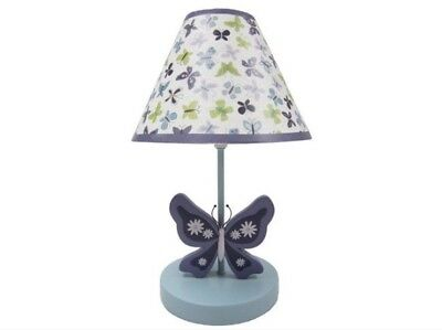 New NoJo Beautiful Butterfly Collection Lamp & Shade Infant Baby Girl Nursery
