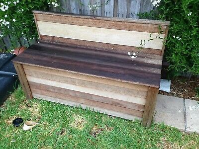 Merbau Storage Bench Seat  Outdoor Box Cabinet Wooden