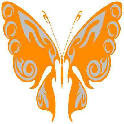 30 Custom Artistic Orange Butterfly Personalized Address Labels