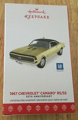 Hallmark 2017 1967 Chevrolet Camaro RS SS 50th Anniversary Ornament Keepsake GM