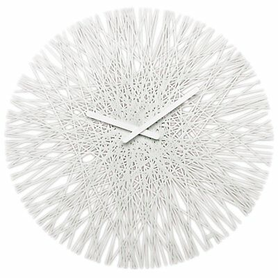 "Koziol SILK WALL CLOCK Modern LARGE 18"" 45cm CLOCK - Solid White - New"