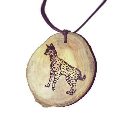 Serval Cat Personalised Handmade Engraved Eco Wooden Oil Scented Car Charm #Car