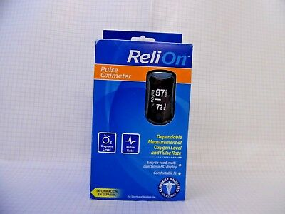 ReliOn RELI on Pulse Rate and Oxygen Level Oximeter For Sports C29 481561 -NEW