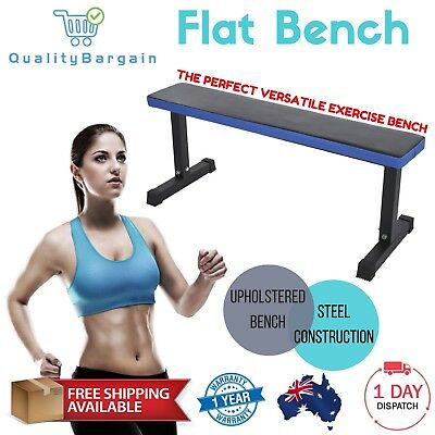 1.2m Flat Weight Bench Press Home Gym Fitness Strength Training Workout Exercise